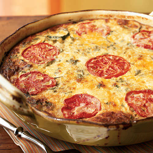Garden Vegetable Crustless Quiche