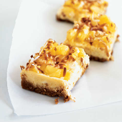 Piña Colada Cheesecake Bars Recipe