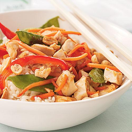 Spicy Chicken and Snow Peas