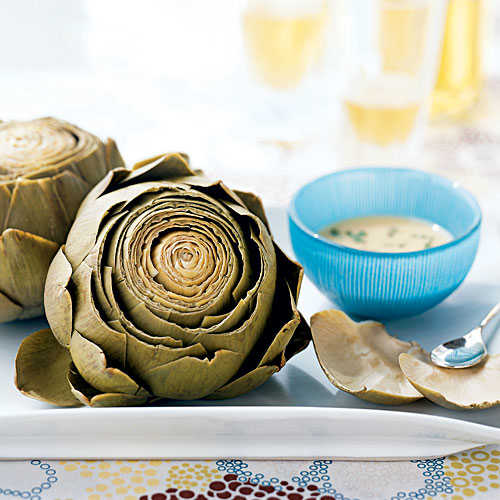 Artichokes with Roasted Garlic-Wine Dip Recipes