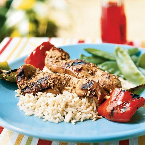 Chicken Skewers with Soy-Mirin Marinade Recipe