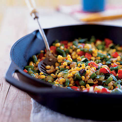 Charred Summer Vegetables Cast Iron Recipes Cooking Light