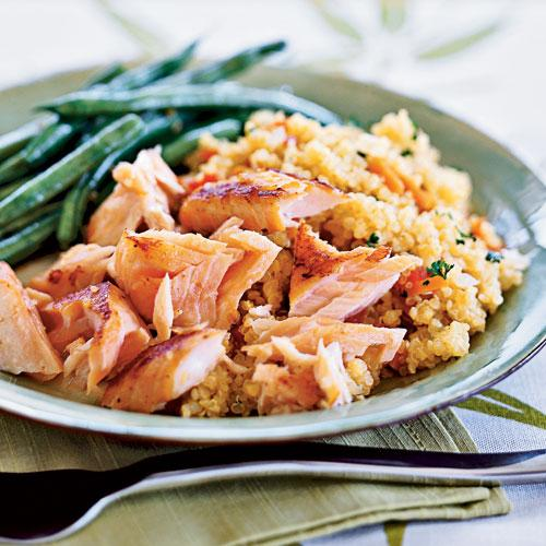 Quick-Cured Sake Salmon with Quinoa Recipe