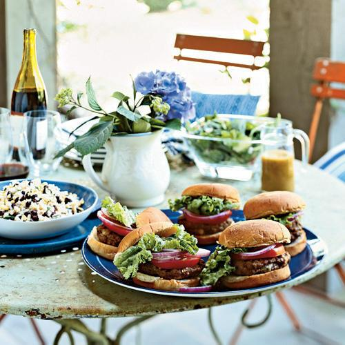 Though burgers are the epitome of casual grilling, these blue-cheese-filled patties add a touch of elegance.