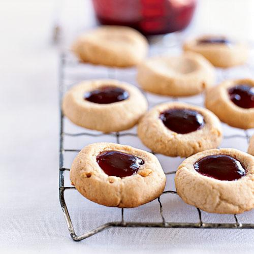 ... Peanut Butter and Jelly Thumbprints - 120 Healthy Cookies | Cooking