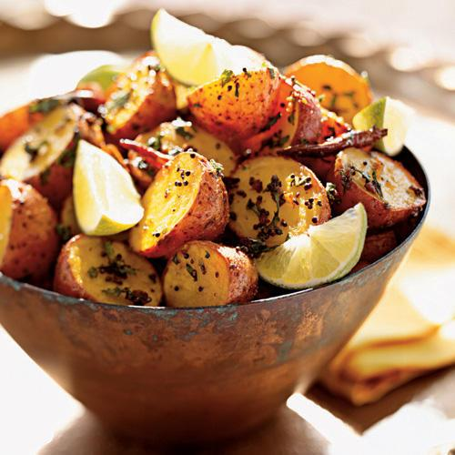 With exotic spices like black mustard seeds and garam masala, simple red potatoes take on an amazing depth of flavor.