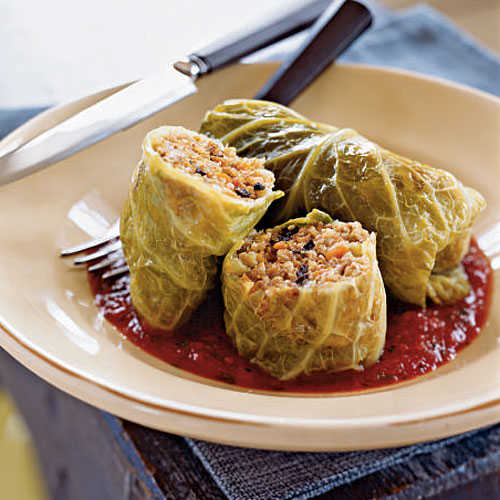 Whole Grain and Italian Sausage–Stuffed Cabbage Whole-Grain Recipe