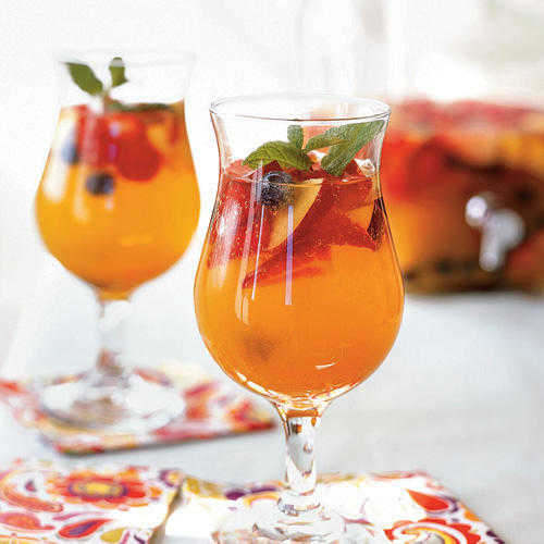 This effervescent creation contains lots of fruit for sweetness and summer flavor.