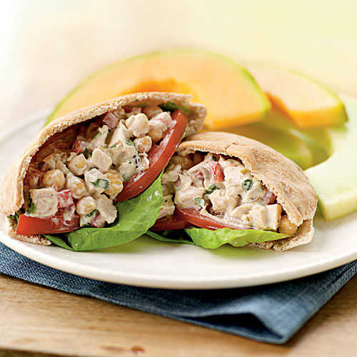 Mediterranean Chicken Salad Pitas Recipes