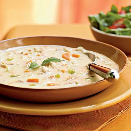 Healthy Turkey and Potato Soup with Canadian Bacon Recipe