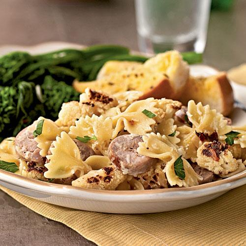 Farfalle with Cauliflower and Turkey Sausage Recipes