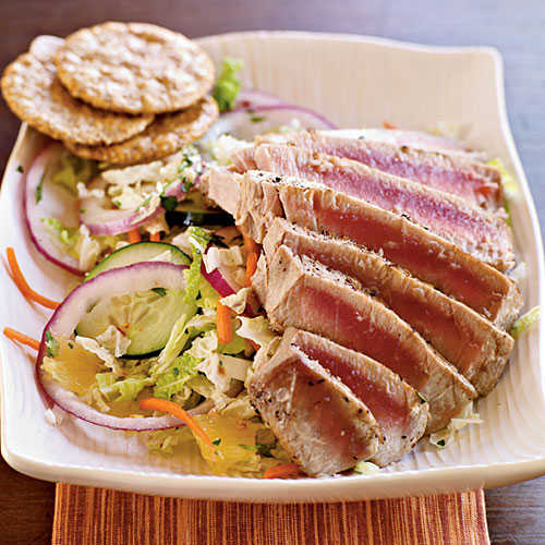 Pan grilled thai tuna salad fresh tuna recipes cooking for Fresh tuna fish recipes