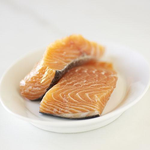 Skin-on salmon fillet