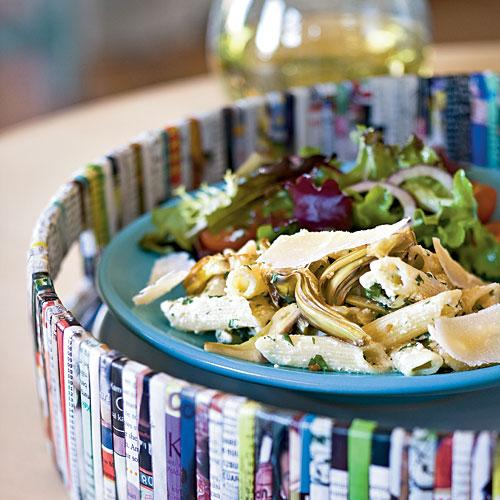 100 Pasta Recipes: Pasta with Artichokes and Fresh Ricotta