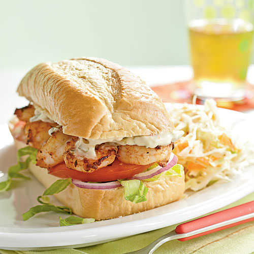 Pan-Seared Shrimp Po' Boys