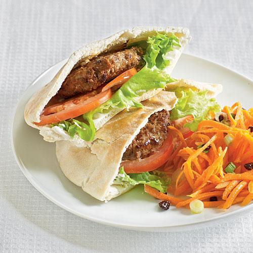 Moroccan pita sandwiches dinner tonight beef and lamb for Hamburger dinner ideas for tonight