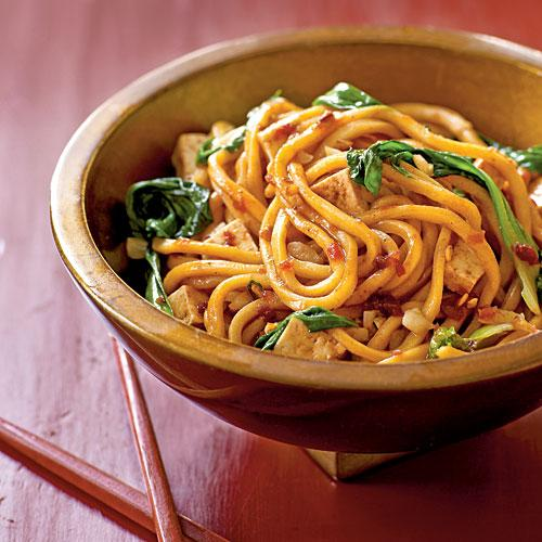 Spicy Malaysian-Style Stir-Fried Noodles Vegetarian Pasta and Grains Recipe
