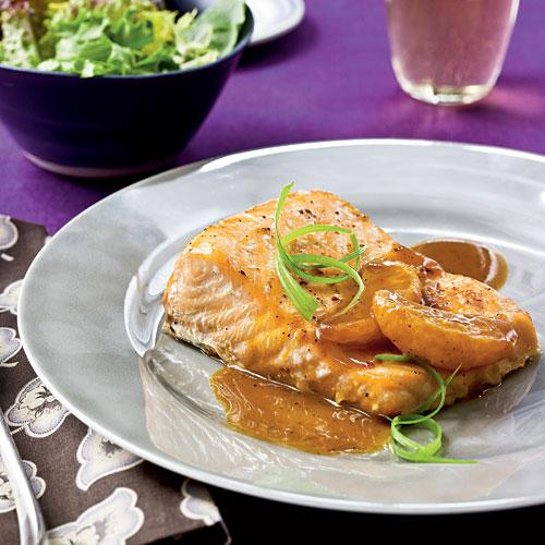 Salmon with Satsuma-Soy Glaze