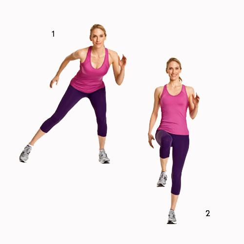 Side Shuffles with Knee Raise