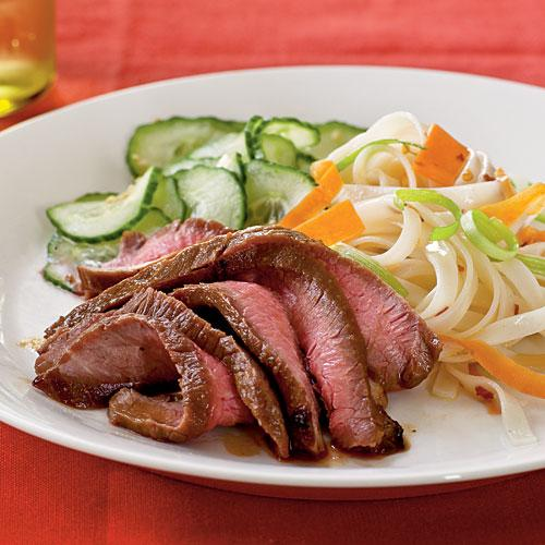 Healthy Dinner Recipes: Maple and Soy-Glazed Flank Steak