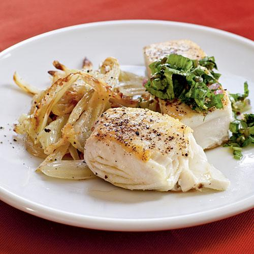Healthy Dinner Recipe: Halibut with Caper Salsa Verde