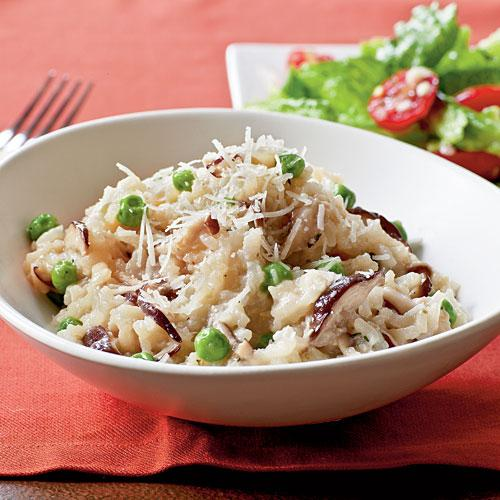 Vegetarian Dinner Recipe: Shiitake and Sweet Pea Risotto