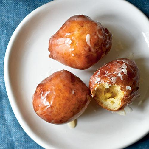 Maple-Glazed Sour Cream Doughnut Holes