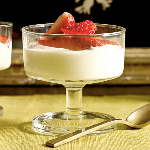 Lavender-Scented Strawberries with Honey Cream Dessert Recipe