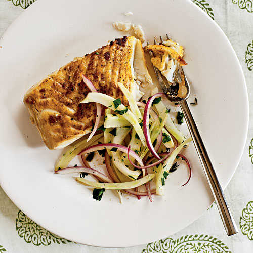 Halibut with Lemon-Fennel Salad Recipes