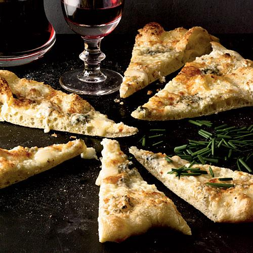 Healthy Four-Cheese Pizza Recipe