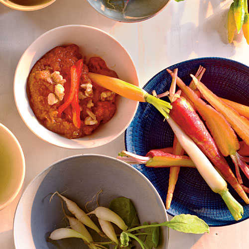 Healthy Muhammara with Crudités Recipes