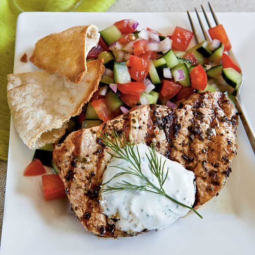 Greek-Style Pork Chops - Healthy Pork Chop Recipes - Cooking Light