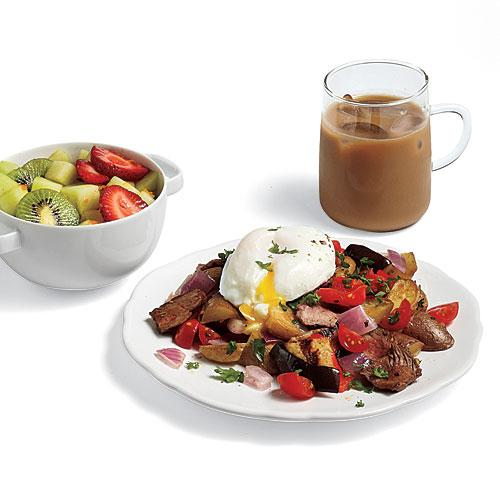 Steak Hash with Poached Eggs Recipes