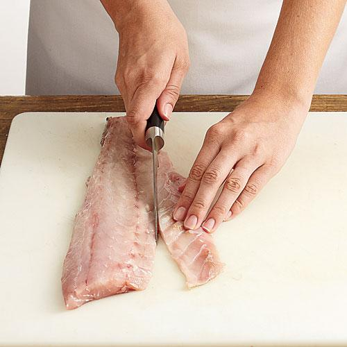 How to trim a fish fillet