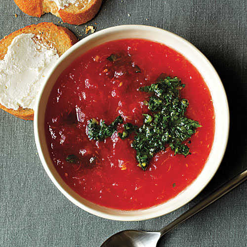 Healthy Minty Tomato Soup Recipe