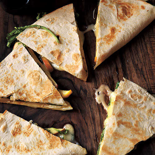 Brie, Apple, and Arugula Quesadillas