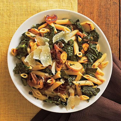 Winter's Best: Pasta with Black Kale, Caramelized Onions, and Parsnips