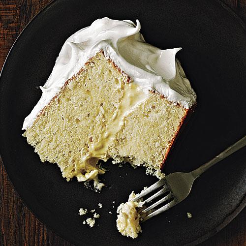 Vanilla Cake with Italian Meringue Frosting Recipes