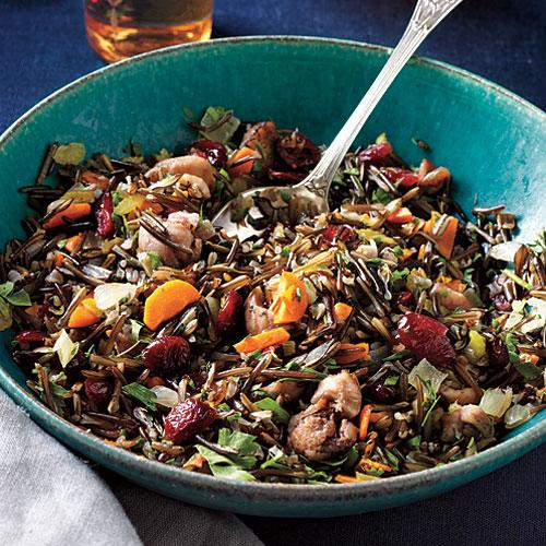 Wild Rice Dressing with Roasted Chestnuts and Cranberries Recipes