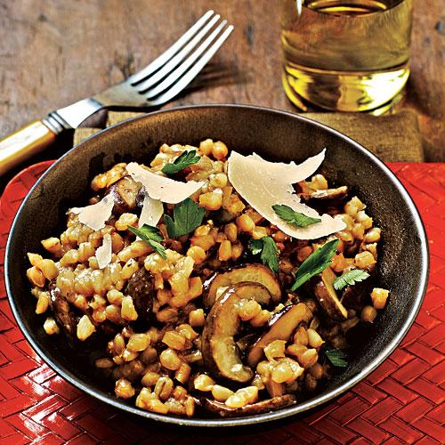 Healthy Mushroom and Barley Risotto
