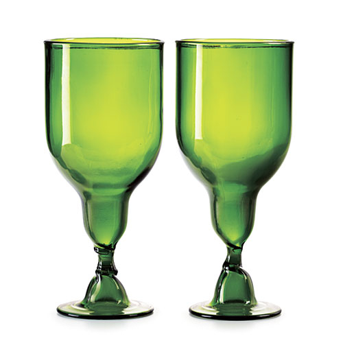 Evergreen Clear Goblets