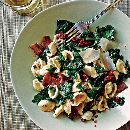 Orecchiette with Kale, Bacon, and Sun-Dried Tomatoes - Lighter Bacon ...