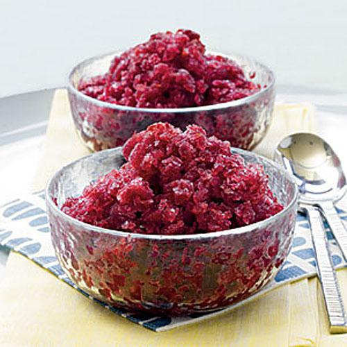 Low-Cal Cherry-Merlot Granita