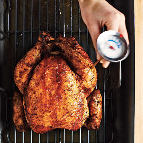 Temperature Check How To Roast A Whole Chicken Cooking Light