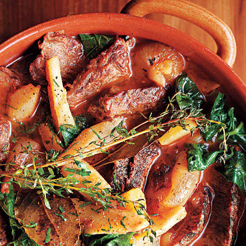 Make-Ahead Dinners: Beef Pot Roast with Turnip Greens