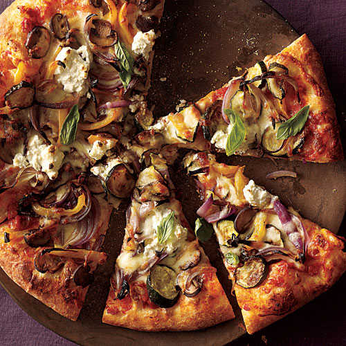 Roasted Vegetable and Ricotta Pizza Comfort Food Recipe