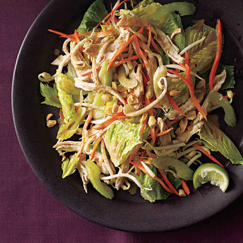 Thai Chicken Salad With Peanut Dressing Chicken Salad Recipes Cooking Light