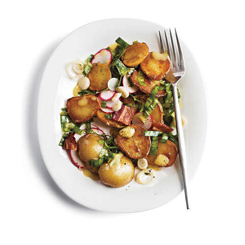 Warm Potato Salad with Ramps and Bacon Recipe