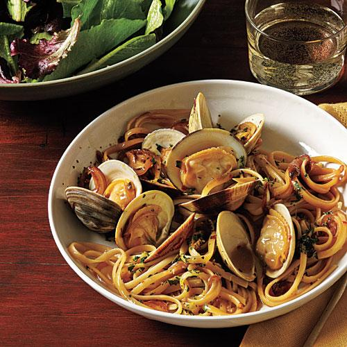 Linguine with Clams and Fresh Herbs Recipe