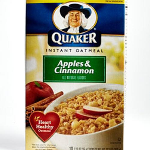 Quaker Instant Oatmeal, Apples & Cinnamon